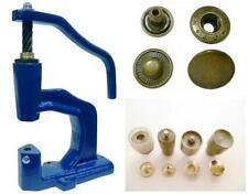 Spindelpresse + 180 Druckknöpfe ALFA / 15mm antik + Werkzeug für Textil, Leder