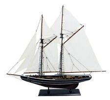 Edle Yacht, Segelschiff, Schiffsmodel Segelboot Holz 75 cm- Stoffsegel, Holz