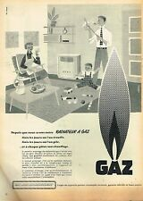 D- Publicité Advertising 1955 Gaz de France radiateur