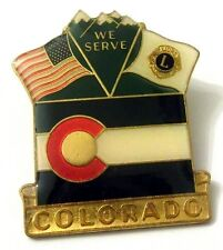 Pin Spilla Lions International - Colorado USA - We Serve