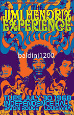 JIMI HENDRIX COLOURFUL CONCERT POSTER - LOOKS AWESOME FRAMED