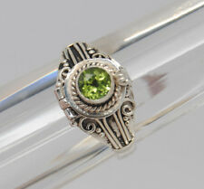 GREEN PERIDOT CREMATION URN RING 10 & 1/4 STERLING SILVER CREMATION JEWELRY