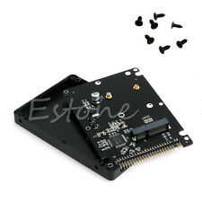 "mSATA to 2.5"" 44PIN IDE HDD SSD mSATA to PATA Converter Adapter Card + Case New"