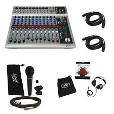 Peavey PV14 Pro Audio DJ 14 Channel Effects Mixer w/ Headphones Mic Cables New