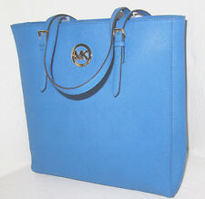 Michael Kors Jet Set Heritage Blue NS Saffiano Leather Travel Tote Bag NWT $278