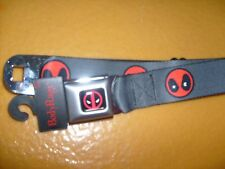 MARVEL COMIC DEADPOOL POLYESTER BUCKLE DOWN SEATBELT STYLE ADJUSTABLE BELT OSFM