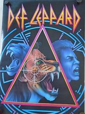 """Def Leppard / Original Vintage Canadian Poster / 22 x 31 1/2"""" - Exc. New cond."""