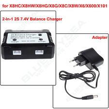 2in1 7.4V 2S Lipo Battery Balance Charger For Syma X8HC X8HW X101 RC Drone Parts
