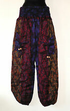 *Fair Trade* Hippy Boho Indian Made Butterfly Design Acrylic Wool Trousers TR8