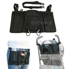 Hot New Baby Stroller Parent Console Organizer Holder Storage Bag with two Hook