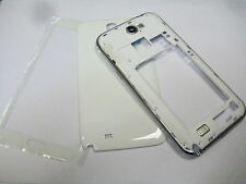 Housing cover +Glass lens for samsung galaxy Note 2 GT-N7100 N7100 White