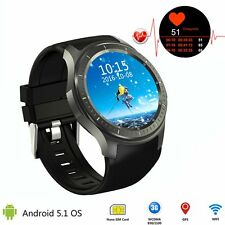 Android 5.1 Wifi Bluetooth 3G SIM Smartwatch GPS Camera Music Watch w/Heart Rate
