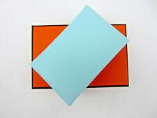 Brand New in Box: HERMES Calvi Card Case Wallet Epsom Blue Zephyr