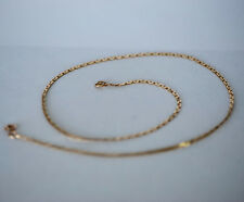 """Heavy Vintage 14k Solid Gold Chain Necklace 18"""" 2mm 6.232 Grams Italy"""