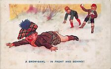 POSTCARD  COMIC  CHILDREN    Bottom  Related  A  Snow  bawl  In  front...