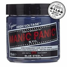 Manic Panic Vegan Semi Permanent Hair Color Dye Cream 118 mL Blue Steel