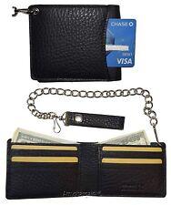 Biker's Chain wallet. Leather Bifold wallet, Motorcycle Trucker Biker wallet BN