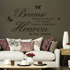 Because Someone We Love Is In Heaven Sayings Words Home Decor Wall Sticker