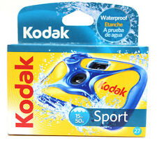 5 KODAK SPORT ONE TIME USE UNDERWATER DISPOSABLE WATERPROOF CAMERA 27 10/2016
