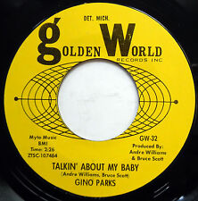 GINO PARKS 45 Talkin About My Baby / My Sophisticated Lady NEAR MINT Soul e6252