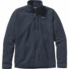 Patagonia Mens Better Sweater 1/4 Zip Pullover Navy Medium - New, Free Ship!