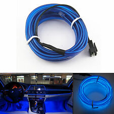 Blue 6.5ft Panel Gap Neon Light Strip Cold EL OLED Car Atmosphere Interior Trim