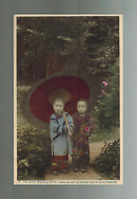 Mint  vintage RPPC China Real Picture Missionary Postcard Little Girls in China
