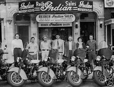 INDIAN MOTORCYCLES REIBER INDIAN SALES MATCHLESS MOTORCYCLES EMPLOYEE PHOTO