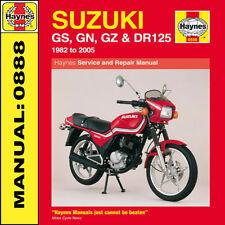 Suzuki GS125 GN125 GZ125 & DR125 Einzel 1982-2005 Haynes Handbuch 0888 NEU