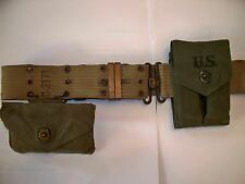 WWII, Korean War, US Army ,Webb Belt, First Aid Pouch & 1911A1 Magazine Pouch