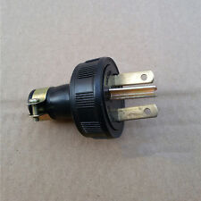 Black AC 250V 15A Screw Lock Generator Plug Socket Cable Adapter