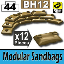 BH12-2 (W230) Army Modular Sandbags compatible with toy brick minifig Dark Tan