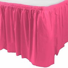 14ft Plastic BRIGHT PINK Table Skirt wedding party