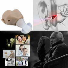 New Small In-Ear Voice Sound Amplifier Adjustable Tone Mini Hearing Ear Aid UL
