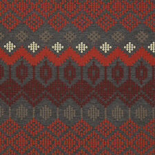 Momentum Sina Pearson Folklore Lava Red and Charcoal modern Upholstery Fabric