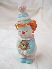 Vintage GG George Good Imports Clown Figurine red hair Teddy Bear