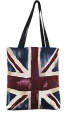 BELGIAN TAPESTRY LARGE SHOPPING TOTE BAG 46CM X 46CM, VINTAGE UNION JACK