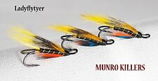 3 x MUNRO KILLERS size 12 SALMON fishing  flies DOUBLES LADYFLYTYER
