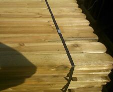 40 ROUND TOP PICKET GARDEN FENCE PALES 900mm LINED FOR SPECIAL EFFECT