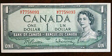 1954 BEATTIE-RASMINSKY, $1 CANADIAN DOLLAR M/P, VF-EF