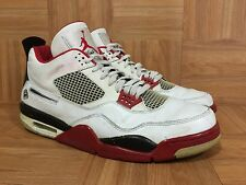 Worn�� Nike Air Jordan 4 IV Retro Mars Blackmon White Red Black Sz 13 308497-162