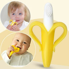BABY BANANA Chewable Bendable Teether Training Toothbrush brush For Infants