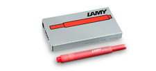 Lamy Fountain Pen Red Ink Cartridge Refill T10 - Pack of 5