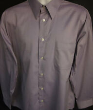 Pronto Uomo Mens Button Front Long Sleeve Designer Lilac Shirt 17