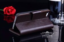 IPhone 5/5s/SE  First Layer Genuine Leather Wallet Case Grade A, Brown