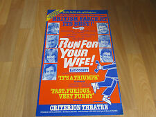 RUN FOR YOUR WIFE by Ray Cooney CRITERION Theatre Poster