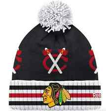 CHICAGO BLACKHAWKS NHL 2015 WINTER CLASSIC GOALIE CUFFED KNIT HAT