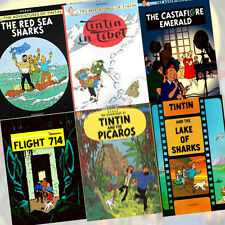 Hergé Collection Adventures of Tintin 6 Book Set PackNew,Flight 714 to Sydney AU