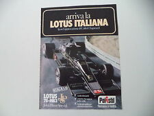 advertising Pubblicità 1978 POLISTIL LOTUS 78 MK3 JOHN PLAYER SPECIAL