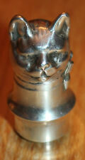 ancien bouchon en argent ( sterling 935 m -m germany ) forme de chat